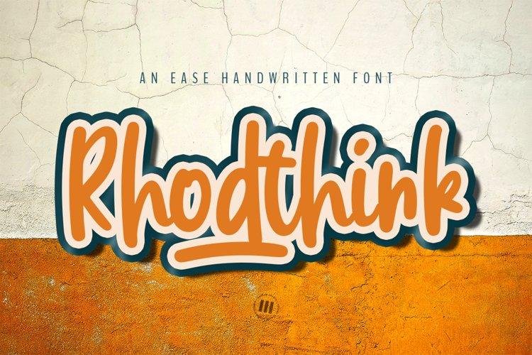 Rhodthink - An Ease Handwritten Font example image 1