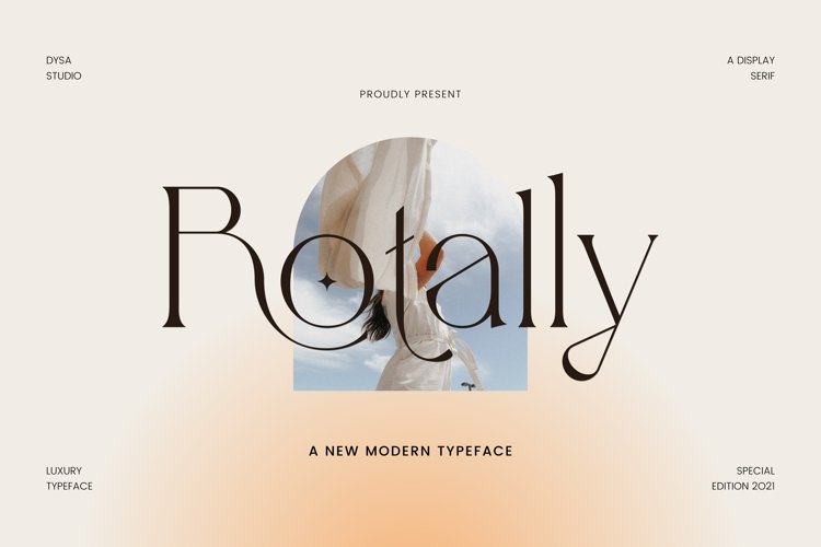 Rotally - Modern Serif Typeface example image 1