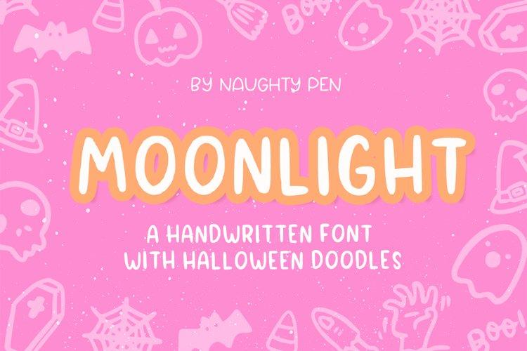 Moonlight Halloween Handwritten and Doodle Font example image 1