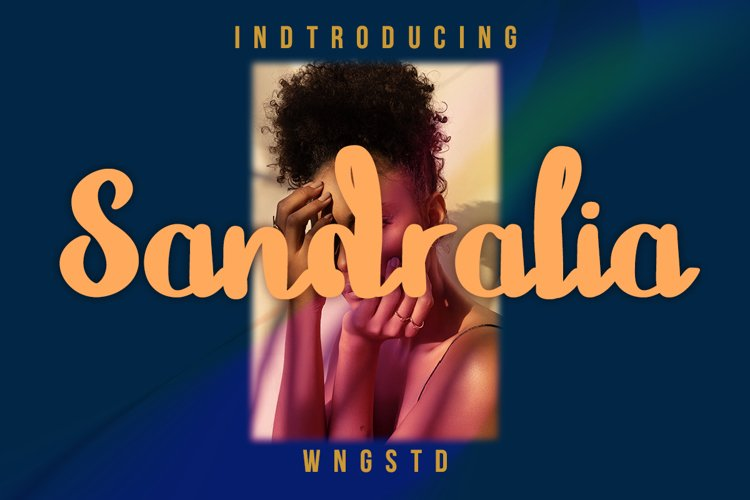 Sandralia - a cute and quirky handwritten font example image 1