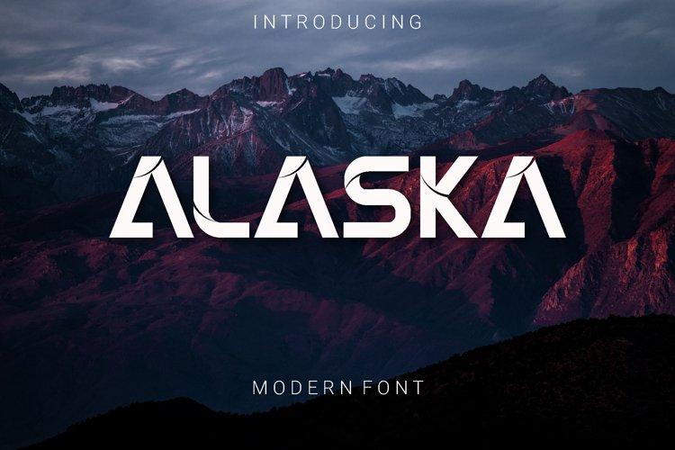 ALASKA Modern Font