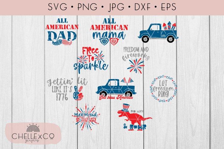 4th Of July Bundle SVG EPS DXF PNG JPG 10 Designs