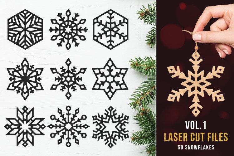 Laser Cut Files Vol.1 - 50 Snowflake Ornaments example image 1