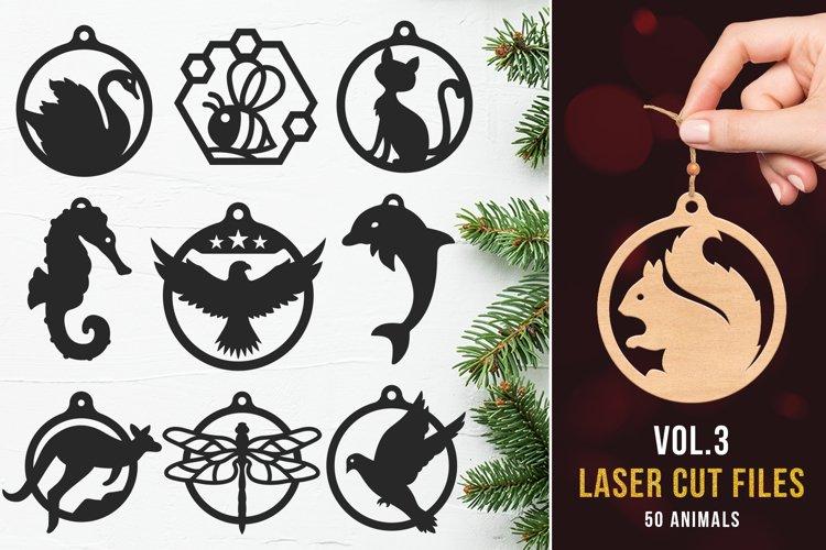 Laser Cut Files Vol.3 - 50 Animal Ornaments Bundle