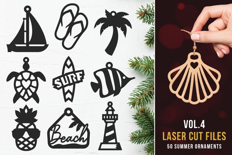 Laser Cut Files Vol.4 - 50 Summer Ornaments Bundle