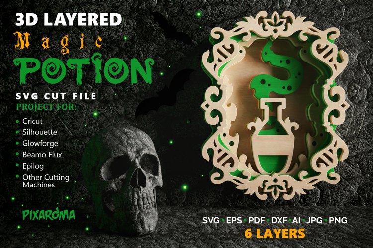 Magic Potion Wall Art 3D Layered SVG Cut File example image 1