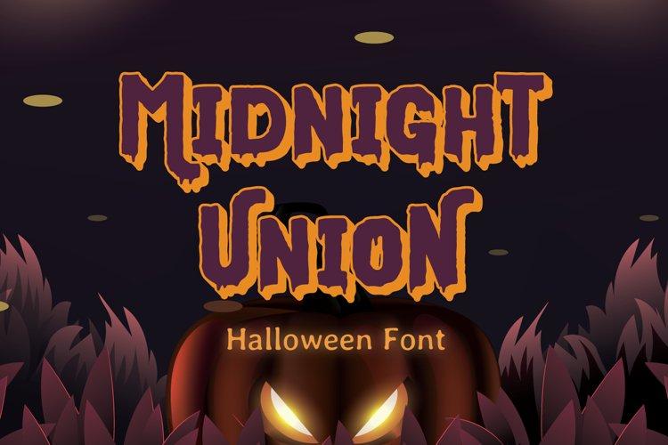 Midnight Union - Halloween Font