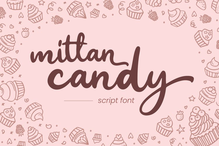 Mittan Candy - Script Font example image 1