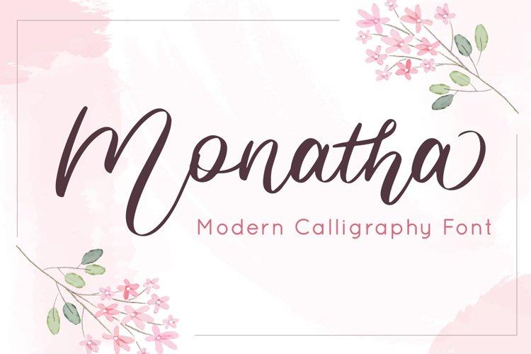 Monatha - Modern Calligraphy Font