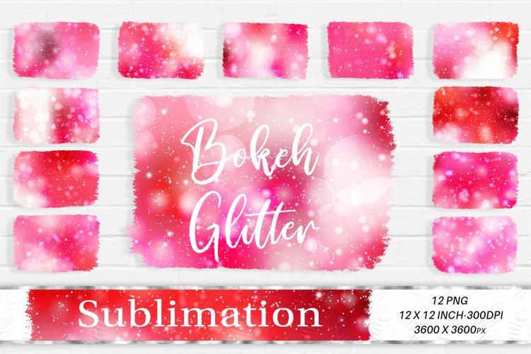 Sublimation Design, Glitter Pink Bokeh Background