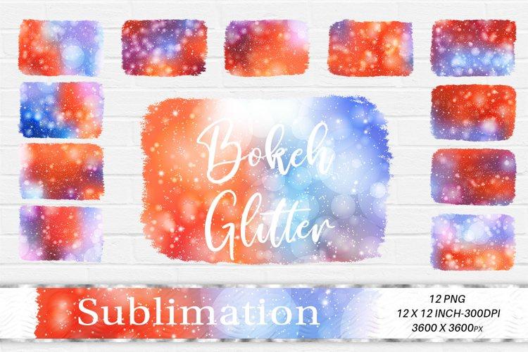 Sublimation Design, Glitter Bokeh Background