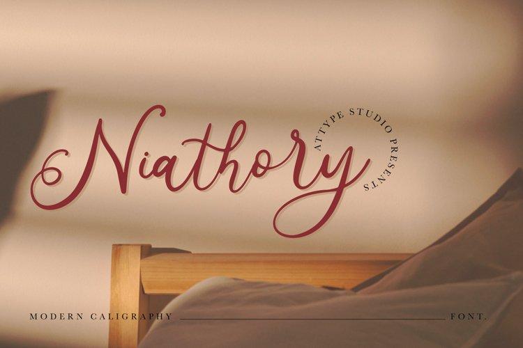 Niathory - Modern Calligraphy Font example image 1