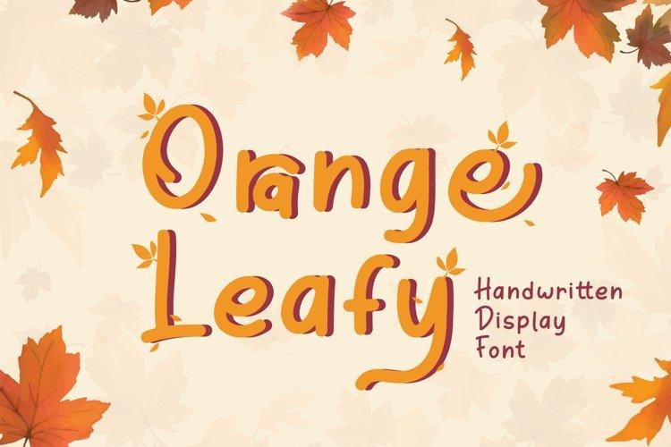 Orange Leafy - Autumn Display Font example image 1