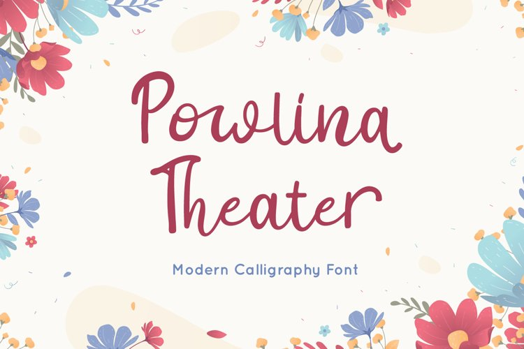 Powlina Theater - Calligraphy Font example image 1