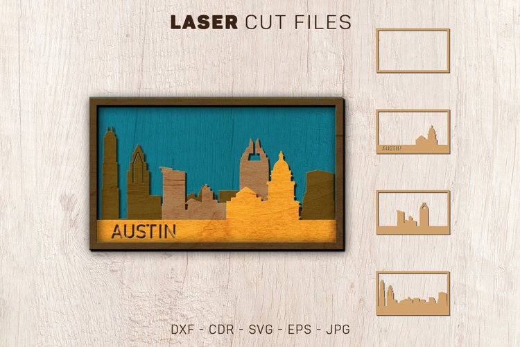 Austin Skyline Laser Multi-layer SVG