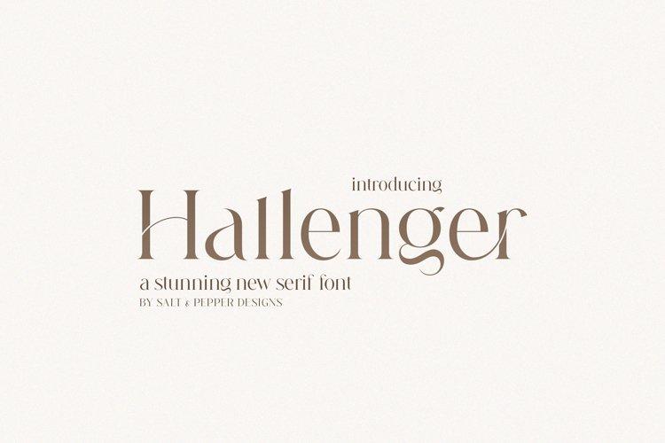 Hallenger Font Duo