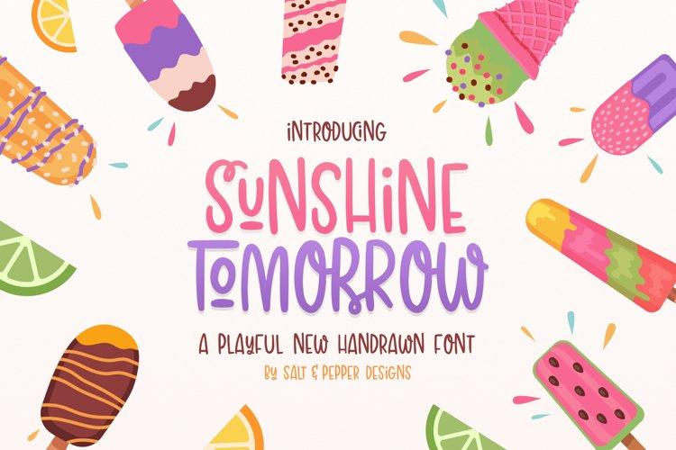 Sunshine Tomorrow Font example image 1