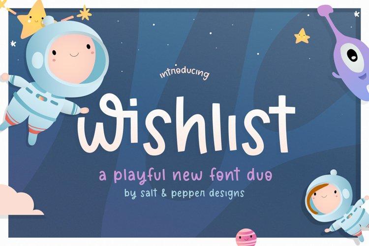 Wishlist Font Duo example image 1