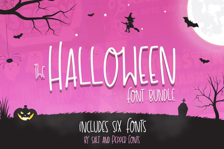 The Halloween Font Bundle example image 1