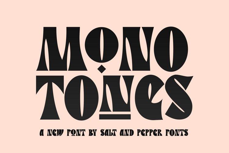 Monotones Font example image 1