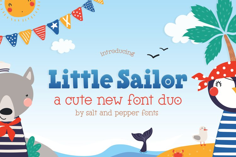 Little Sailor Font Duo example image 1