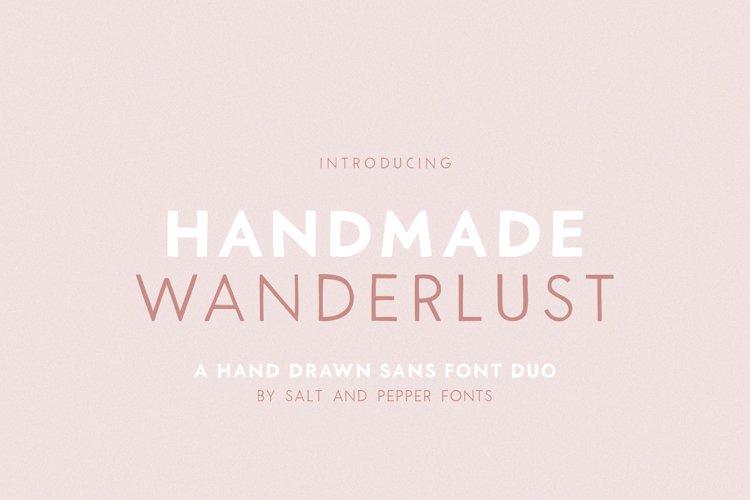 Handmade Wanderlust Font Duo