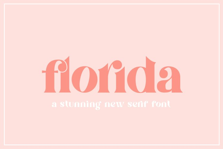 Florida Serif Font example image 1
