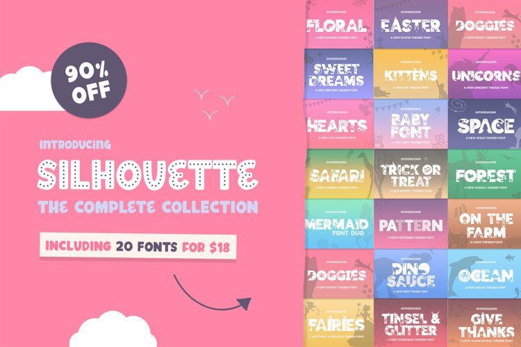 The Silhouette Font Bundle - Complete Collection example image 1