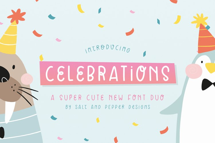 Celebrations Font Duo example image 1