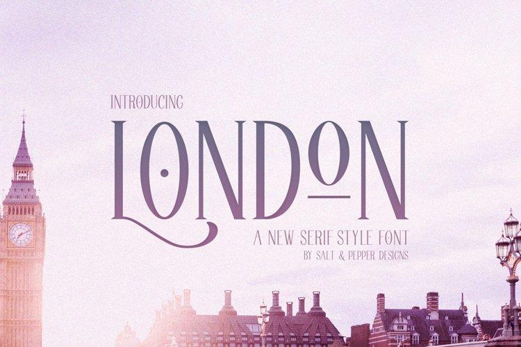 London Serif Font example image 1
