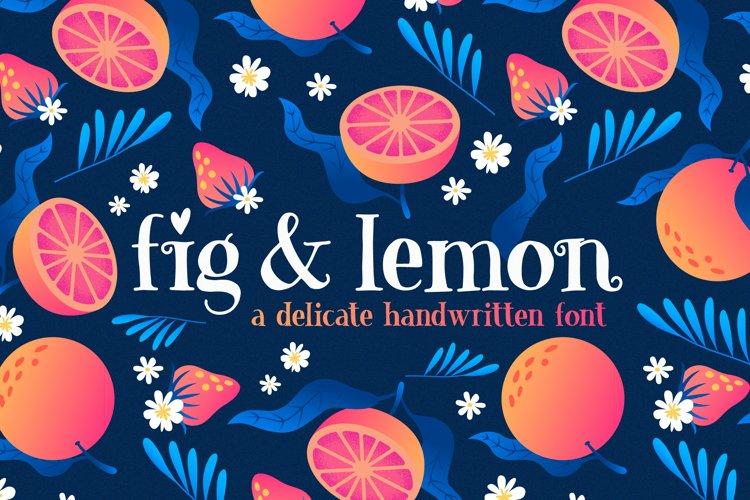 Fig   Lemon Font Duo