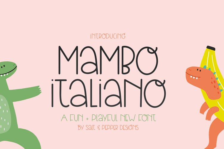 Mambo Italian Font example image 1