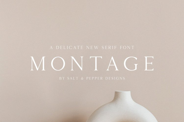 Montage Serif Font example image 1
