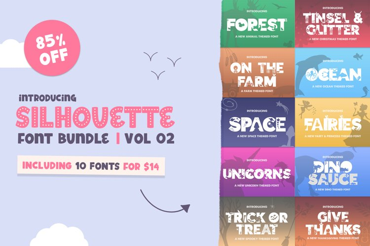 The Silhouette Font Bundle - Volume 02 example image 1