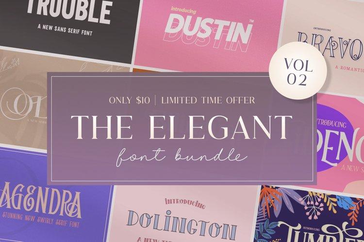 The Elegant Font Bundle - Vol 02 example image 1