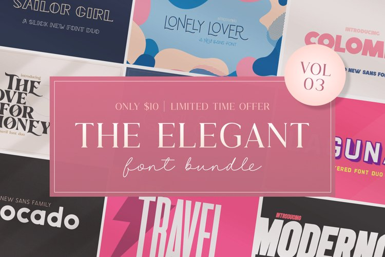The Elegant Font Bundle - Vol 03 example image 1