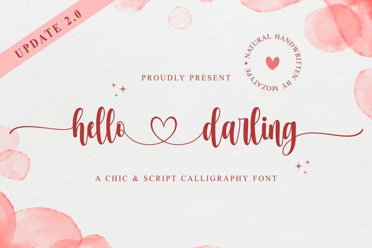 hello darling - love theme font example image 1