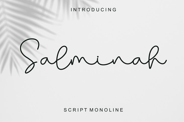 Salminah - Script Monoline example image 1