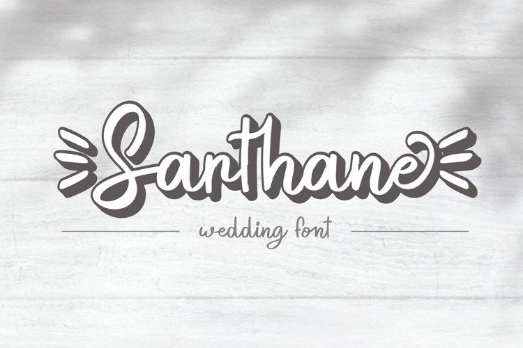 Sarthane - Wedding Font example image 1