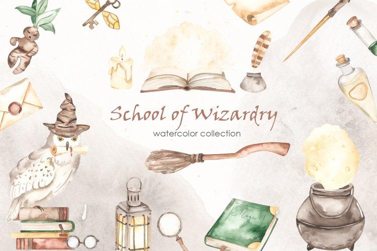 School of wizardry Watercolor