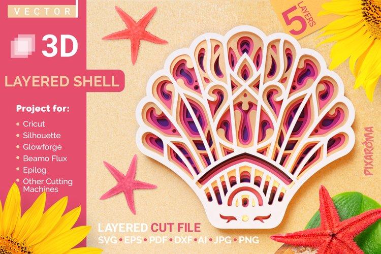 Shell 3D Layered SVG Cut File