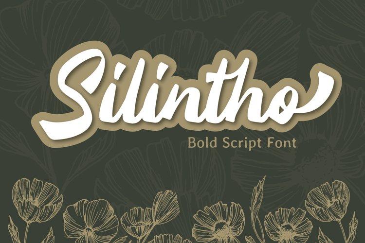 Silintho - Bold Script font example image 1