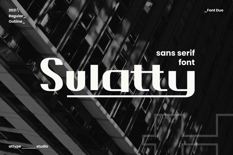 Sulatty - Sans Serif Font example image 1