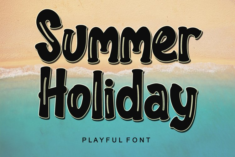 Summer Holiday - Playful Font example image 1