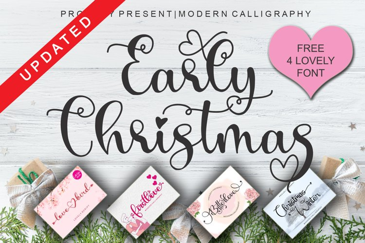 Early Christmas   Free 4 Lovely Font example image 1