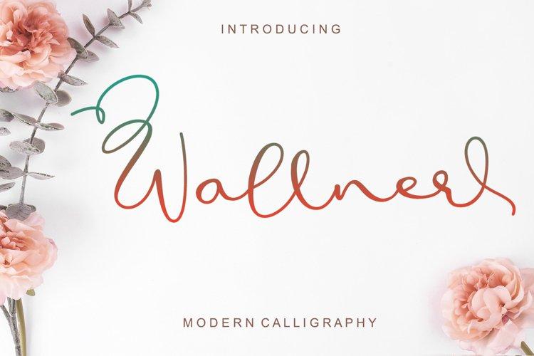Wallner - Handwritten Font example image 1