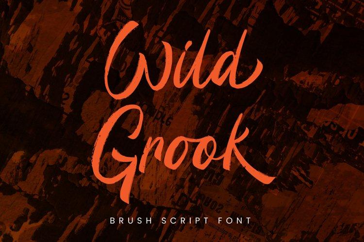 Wild Grook - Brush Script Font