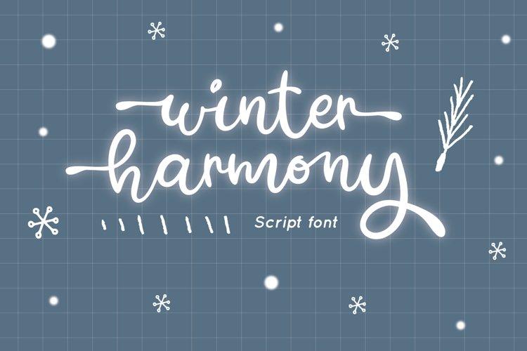 Winter Harmony - Wedding Font example image 1