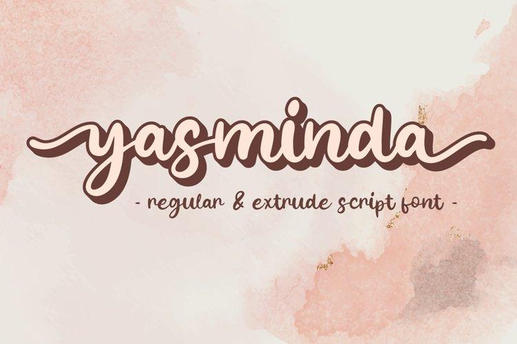 Yasminda - Layered Script Font