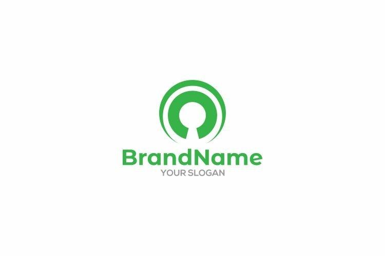 Outcomes Keyhole Logo Design vector example image 1